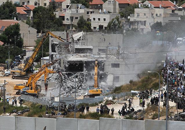 Demolição de construções irregulares em Beit El, na Cisjordânia