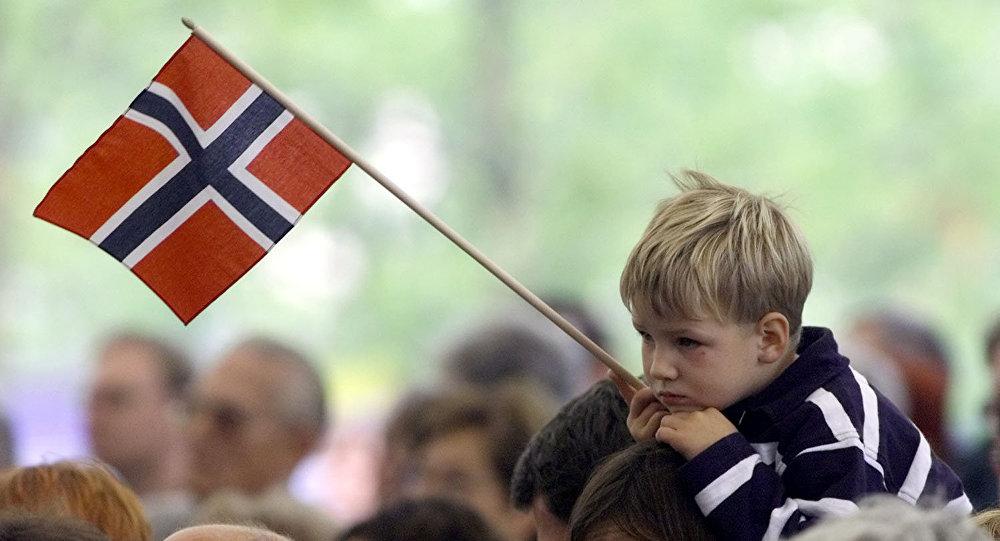 Bandeira da Noruega.