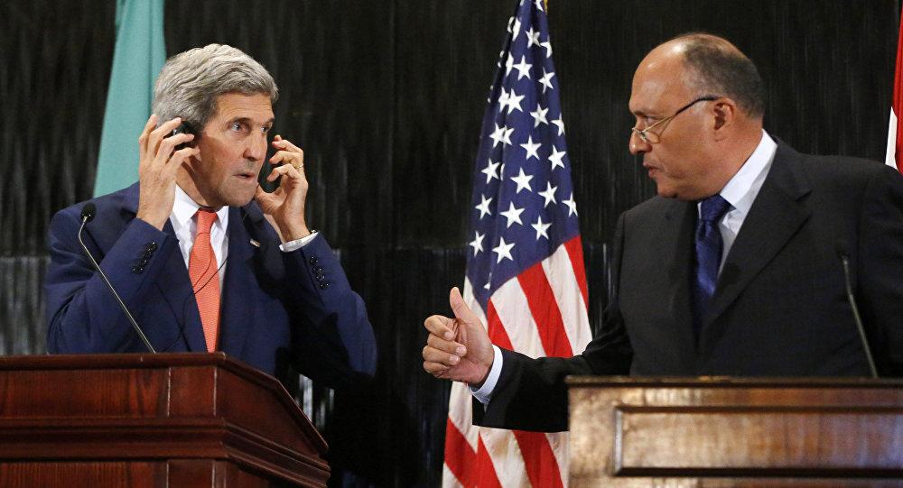 John Kerry e Sameh Shukri