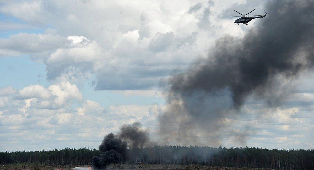 Helicóptero Mi-28 caiu no polígono de Dubrobichi, na região de Ryazan