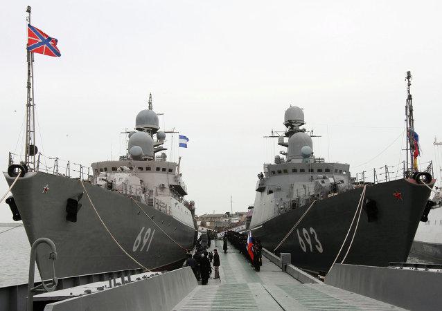 Navios em seviço na Flotilha Russa do Mar Cáspio
