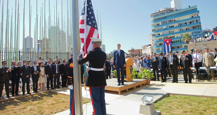 Abertura da embaixada norte-americana em Cuba na sexta-feira, 14 de agosto.
