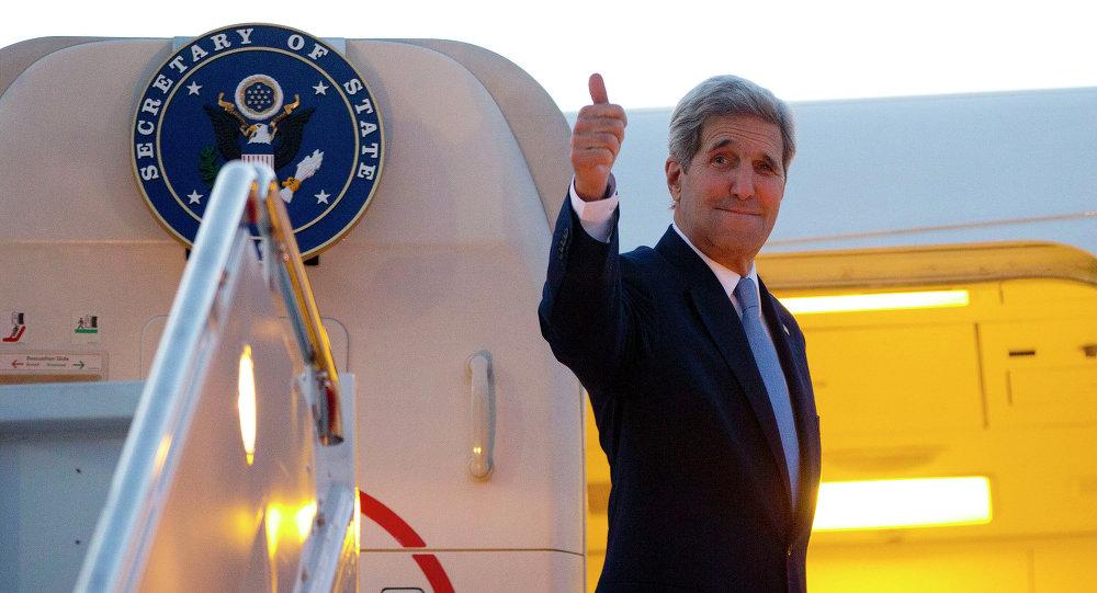 O secretário de Estado norte-americano, John Kerry