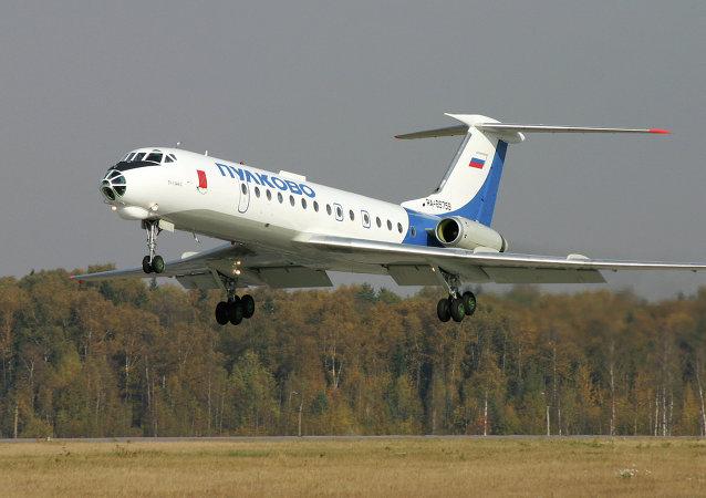 Avião Tu-134 (imagem referencial)