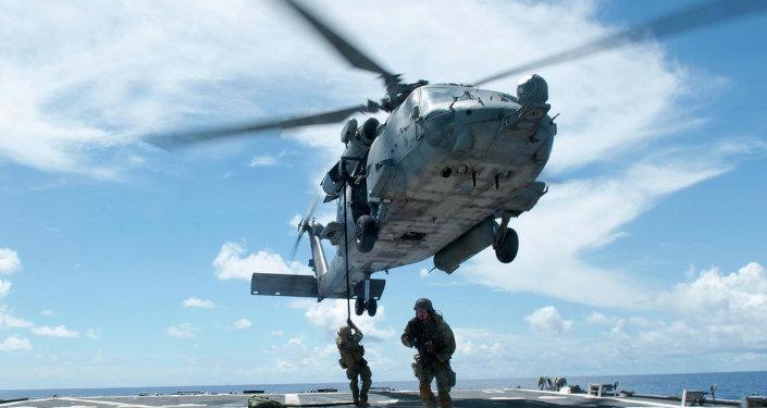 Helicóptero SH-60F Seahawk, exercícios navais