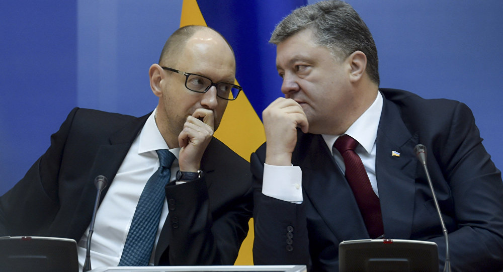 Pyotr Poroshenko e Arseny Yatsenyuk