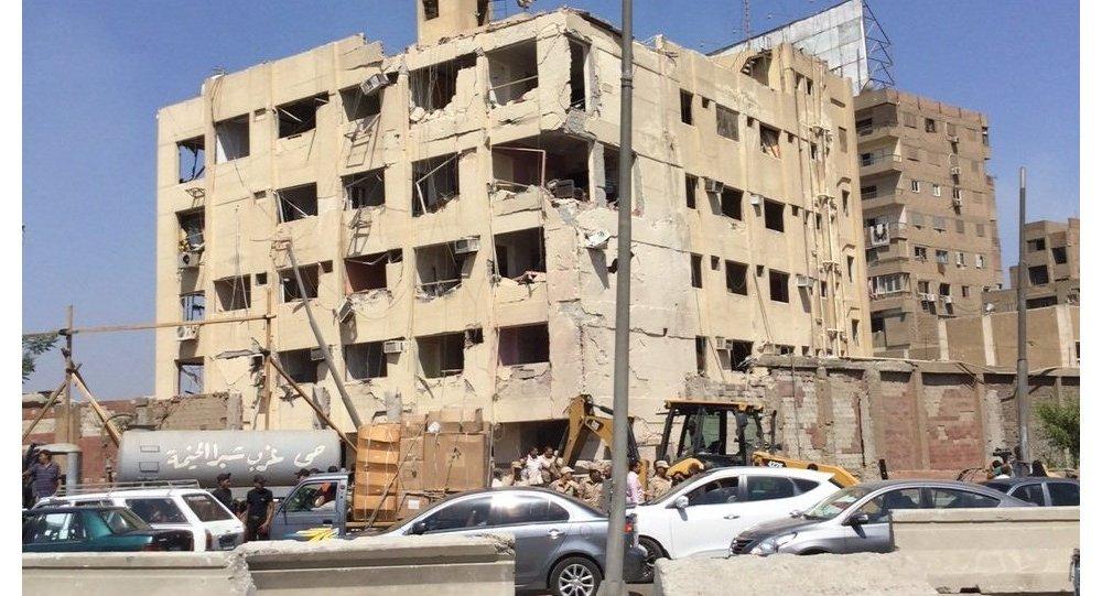 O prédio da Agência de Segurança Nacional no Cairo, onde ocorreu uma explosão
