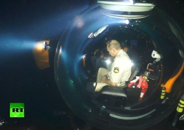 Putin em submersível