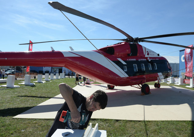 Helicóptero Mi-38 capaz de realizar tarefas multifuncionais.