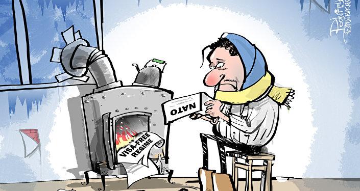 A Ucrânia aquece-se com promessas não cumpridas