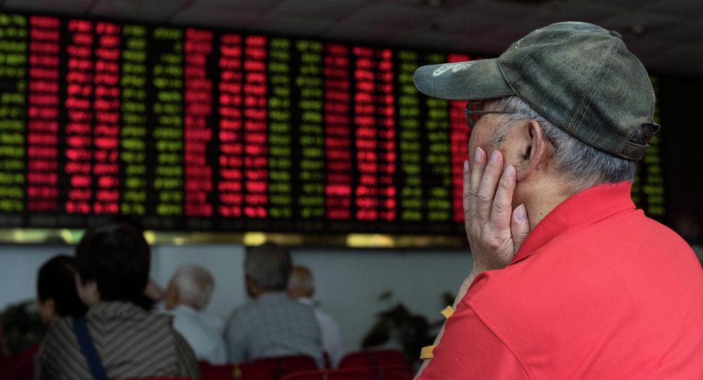 Investidores na Bolsa de Valores de Xangai