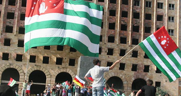 População da Abecásia comemora o reconhecimento de sua independência pela Rússia