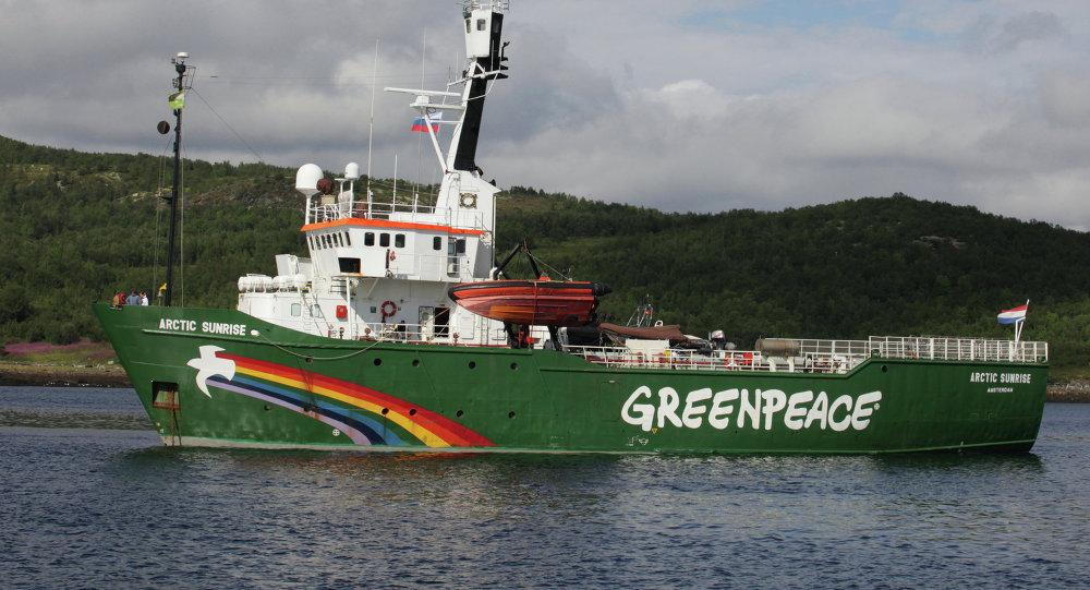 Navio do Greenpeace Arctic Sunrise