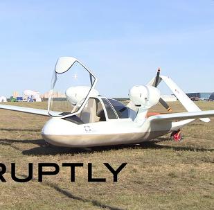O drone Chirok no salão aeroespacial russo MAKS 2015