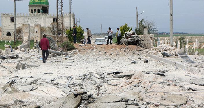 O Estado Islâmico ocupa a cidade de Marea, onde em abril o grupo explodiu um carro-bomba.
