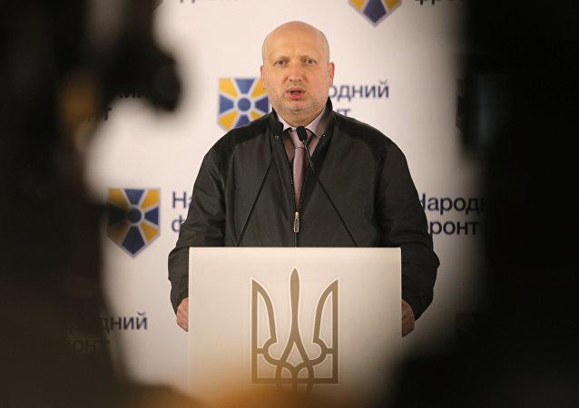 O comandante do exército ucraniano, Aleksandr Turchinov