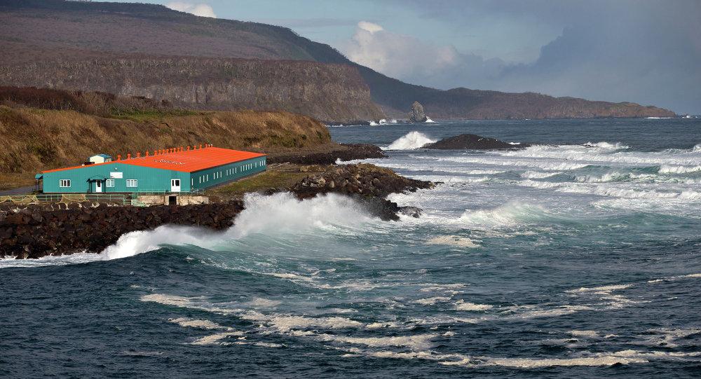 Vista pela ilha Iturup