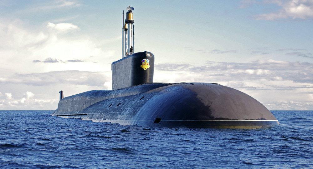 Submarino nuclear lançador de mísseis balísticos da classe Borei Aleksandr Nevsky