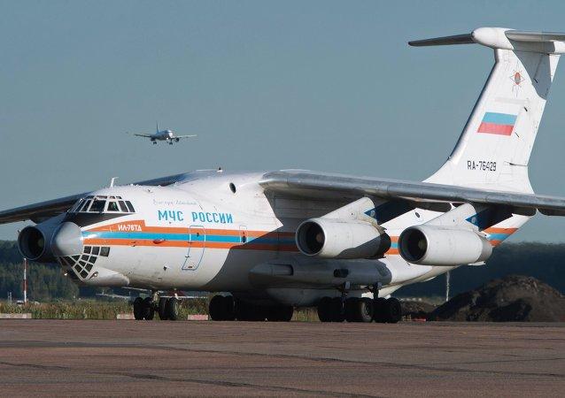 Avião do Ministério de Emergência russo