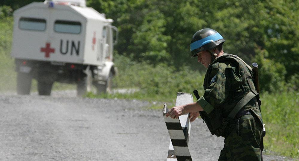 Capacetes azuis russos em Abkházia
