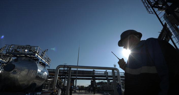 Refinaria da Gazprom em Moscou