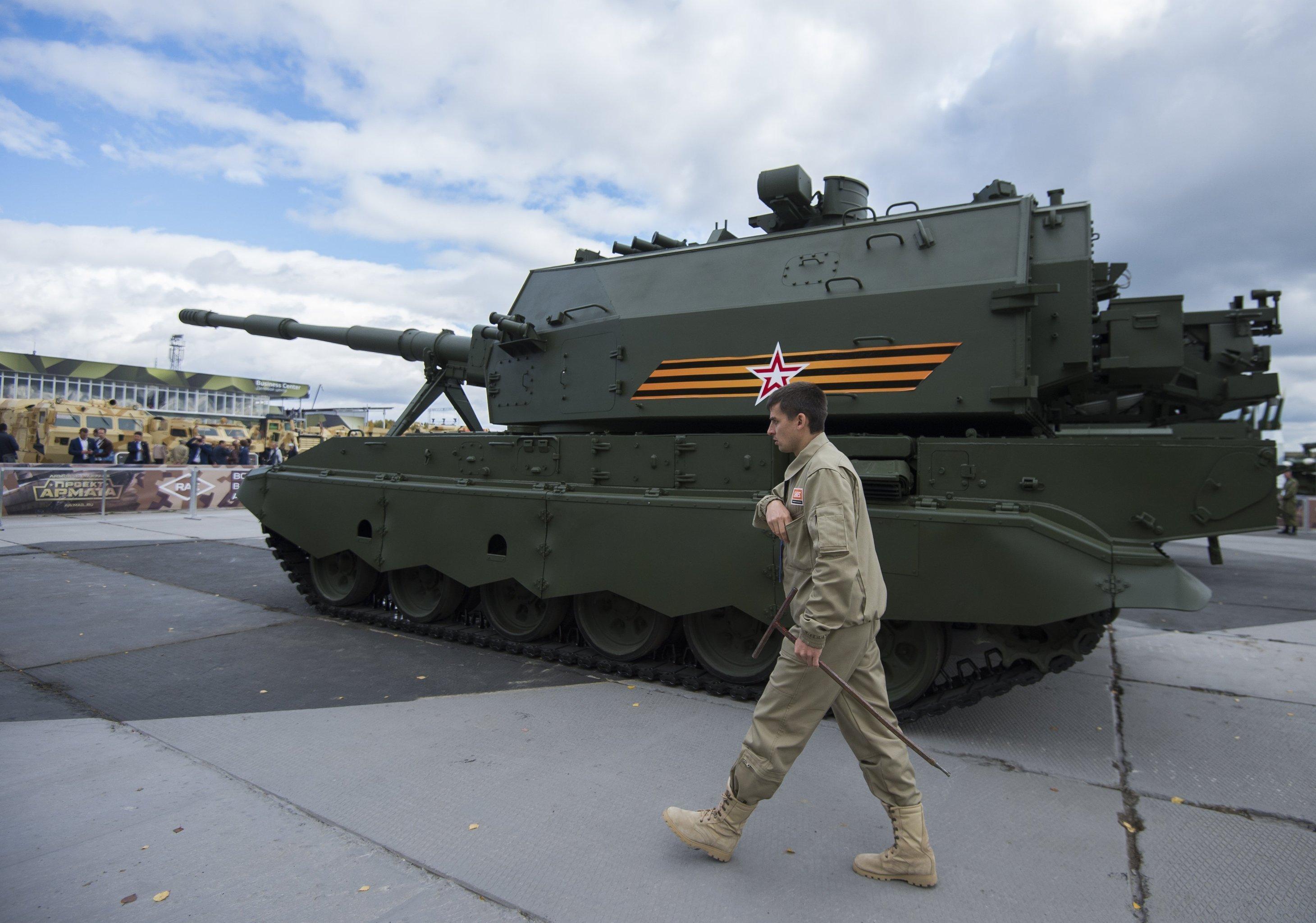 Koalitsiya-SV, uma arma automotora