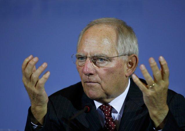 Ministro das Finanças da Alemanha, Wolfgang Schaeuble