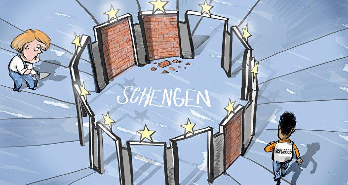 Merkel e chefes dos outros países europeus reintroduzem controle fronteiriço dentro de Schengen