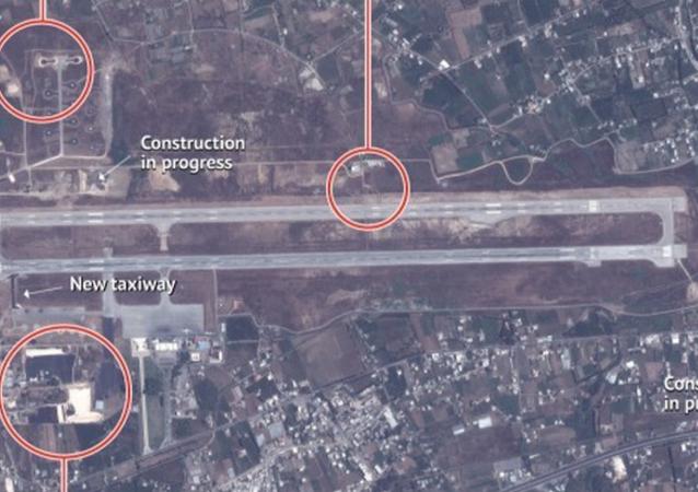 Imagem de satélite divulgada pela Stratfor