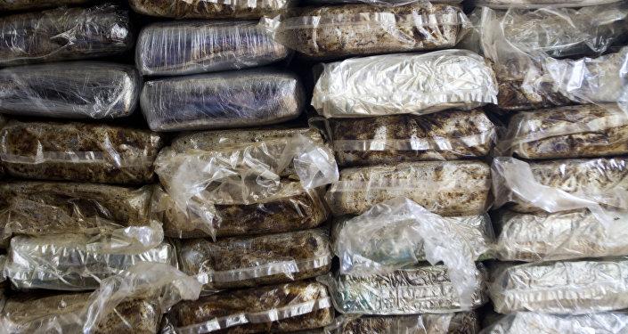 Foto de arquivo. 21 de março de 2013. Mais de 700 quilos de cocaína detidas em Santo Domingo (República Dominicana)
