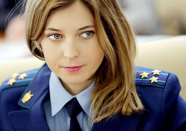 A procuradora geral da Crimeia, Natalia Poklonskaya