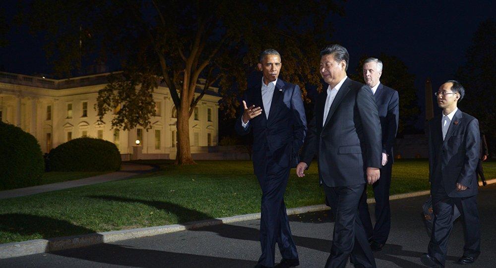 Encontro entre Barack Obama e Xi Jinping, na Casa Branca, em 24 de setembro de 2015