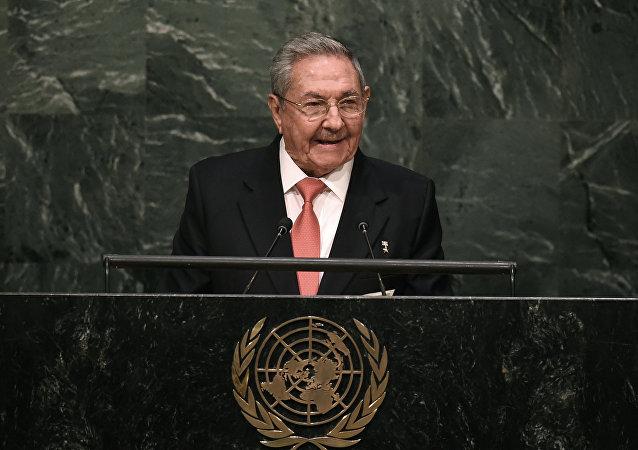 Raúl Castro, presidente de Cuba, durante discurso em encontro sobre desenvolvimento sustentável na ONU, em 26 de setembro de 2015