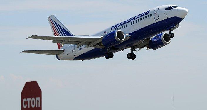 Avião da companhia aérea russa Transaero