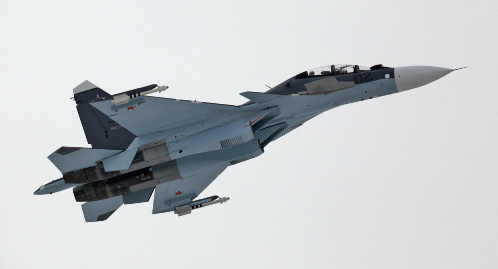 Caça Su-30 da Força Aérea russa