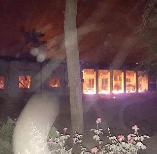Hospital da ONG Médicos Sem Fronteiras, em Kunduz, no Afeganistão, após o ataque aéreo dos EUA.