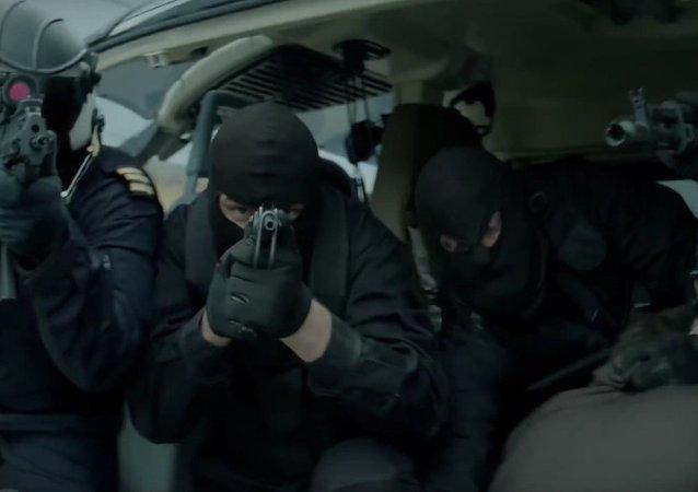 Cena da telenovela Okkupert (Ocupados)