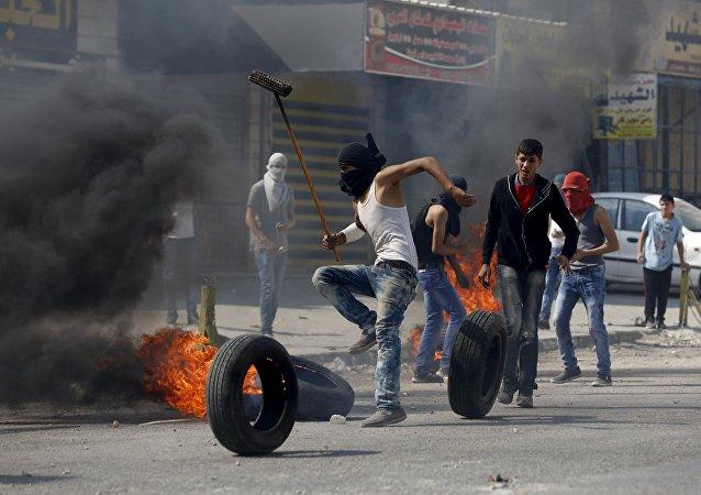 Tumultos na Cisjordânia