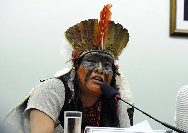 Líder indígena Guarani-Kaiowá, Valdelice Veron