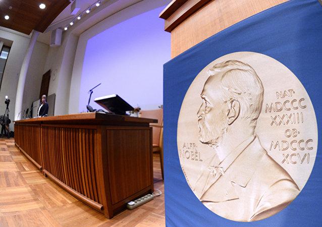 A medalha do prêmio Nobel decorada com a imagem de seu idealizador, Alfred Nobel