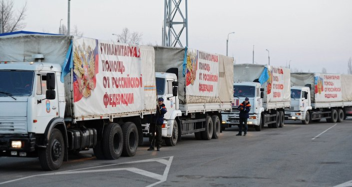 Comboio com ajuda humanitária russa parte para o leste ucraniano