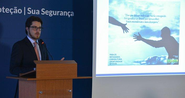 O secretário Nacional de Justiça e presidente do Conare, Beto Vasconcelos, fala sobre o início da campanha de enfrentamento à xenofobia e à intolerância no Brasil