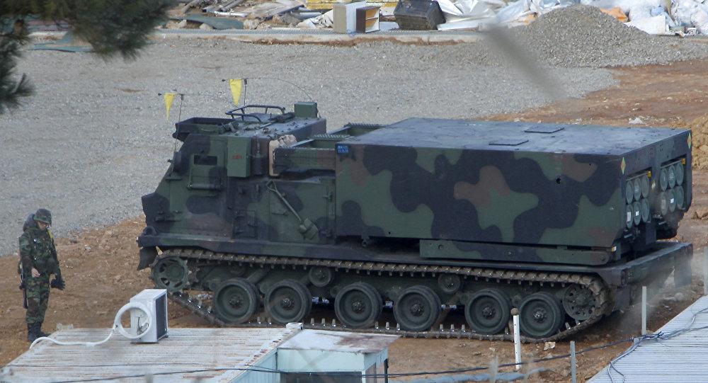 Lançador múltiplo de foguetes M270 MLRS