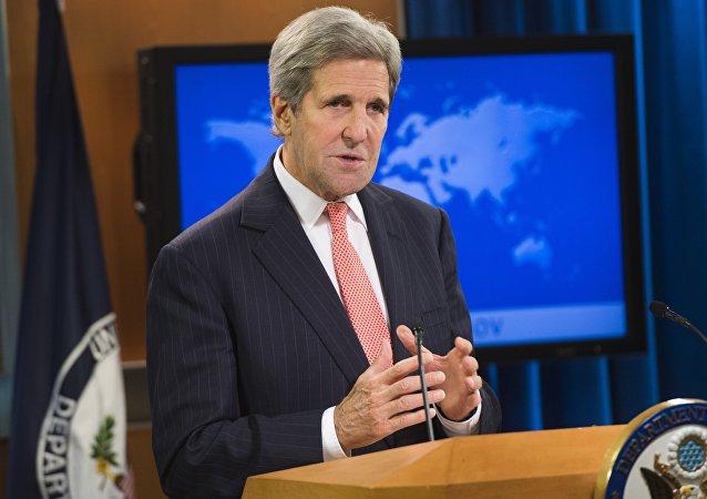 Secretário do Estado dos EUA John Kerry fala da liberdade de religião no mundo em 2014