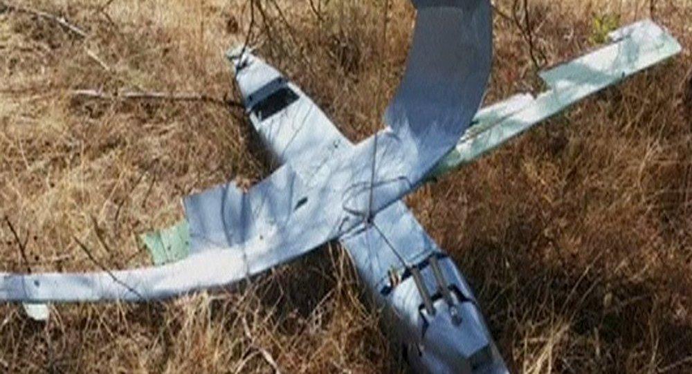 Drone abatido na Turquia.