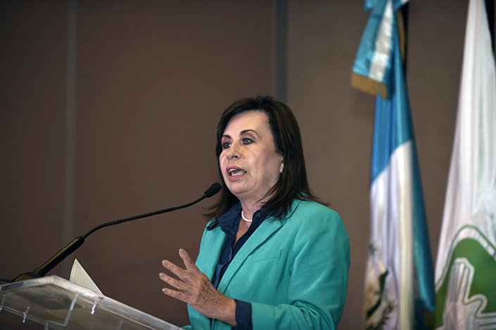 Sandra Torres, candidata à presidência da Guatemala