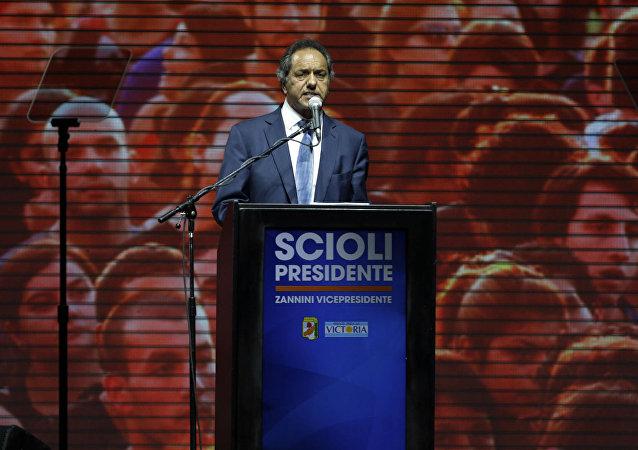 Daniel Scioli, candidato à presidência da Argentina.