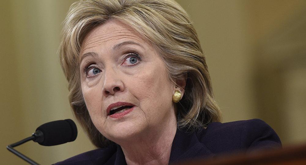 Ex-secretária de Estado norte-americana Hillary Clinton durante a audência na comissão especial pelo caso de Benghazi, 22 de outubro de 2015