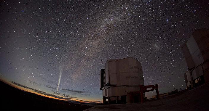 Cometa Lovejoy na foto tirada em 22 de decembro, 2011 no Chile