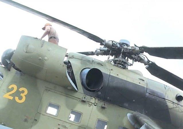 Helicóptero russo Mi-24